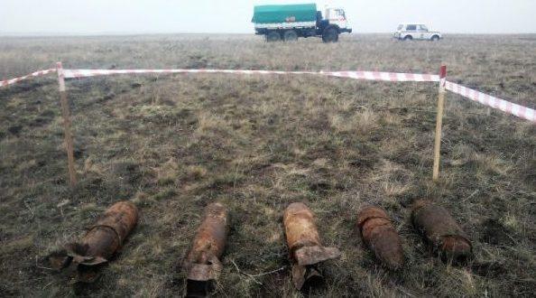 В Ленинском районе Крыма два дня обезвреживали шесть бомб