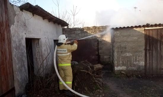 Два пожара под Феодосией