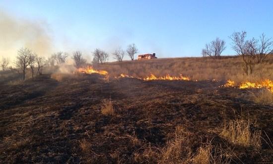 В Крыму горит сухая трава