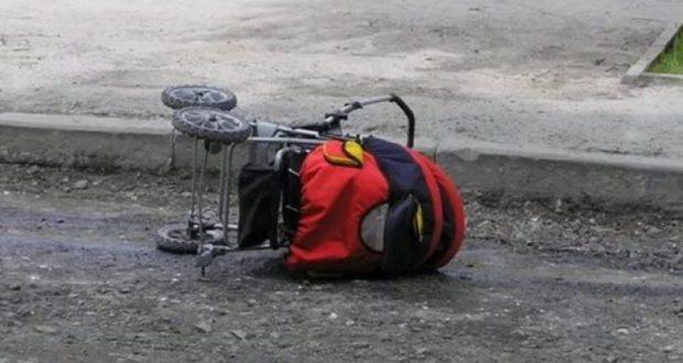 ДТП в Феодосии. Мотоциклист сбил коляску с ребёнком