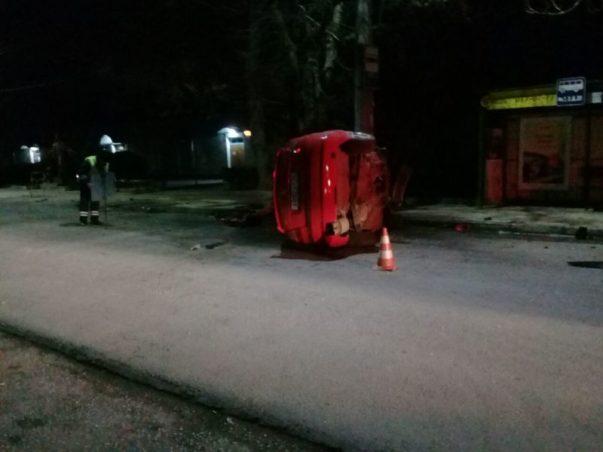 Ночное ДТП в Евпатории. «Skoda Octavia» - в хлам