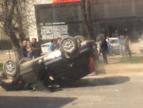 Субботнее ДТП в Симферополе. «Форд» - «перевертыш»