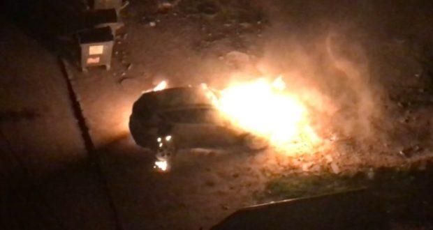 Ночной поджог в Симферополе. Сгорела дорогая иномарка