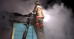 Пожар в селе Красная Зорька Симферопольского района