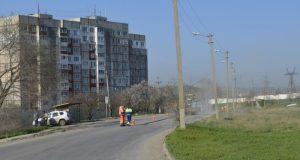 В Керчи ремонтируют Индустриальное шоссе