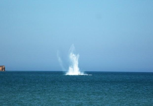 В акватории крымского пляжа в районе села Песчаное подорвали шестисоткилограммовую якорную мину