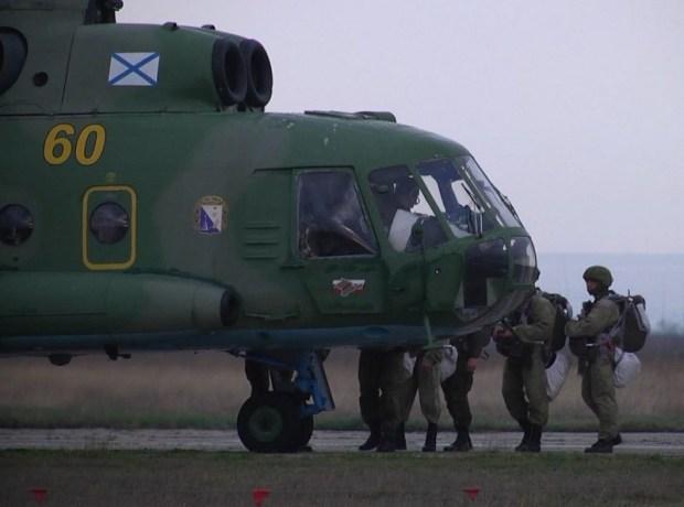 Сборы по воздушно-десантной подготовке морской пехоты Черноморского флотаСборы по воздушно-десантной подготовке морской пехоты Черноморского флота