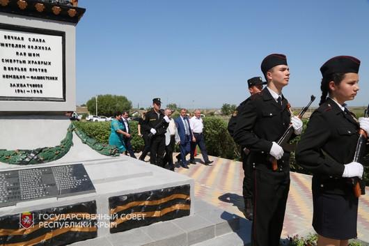 В Сакском районе отреставрировали памятник героям Великой Отечественной