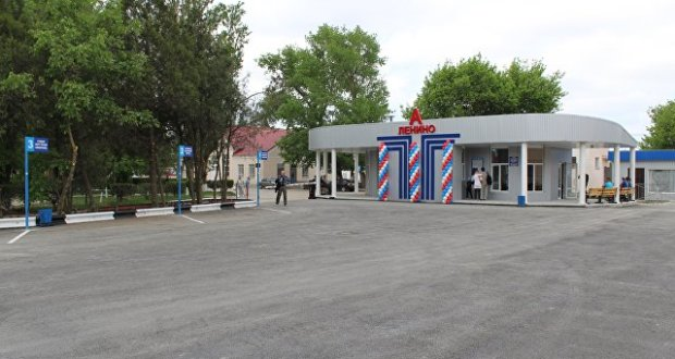 В поселке Ленино построили новую модульную автостанцию