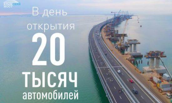 """Автодорожную часть Крымского моста """"посчитали"""" - Росреестр поставил на учёт"""