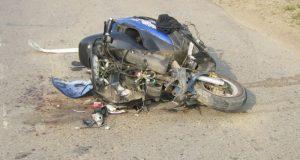 В Нижнегорском районе Крыма в ДТП погиб пожилой мотоциклист