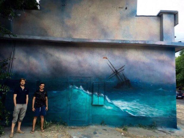 В Симферополе художники расписали… трансформаторную будку