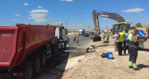 ДТП под Белогорском. В бетонные ограждения строящейся трассы «Таврида» врезался грузовик