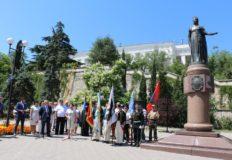 В Севастополе отметили юбилей памятника Екатерине Второй