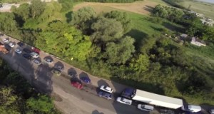 Всего одно ДТП, а на «феодосийском участке» трассы «Симферополь – Керчь» пробка на два часа