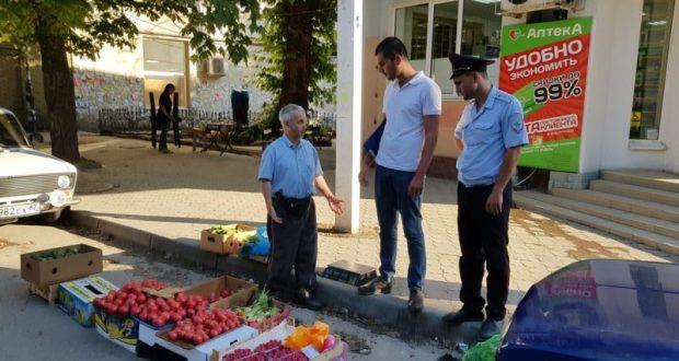 Овощи, фрукты и зелень - на выброс. В Симферополе снова разбирались со стихийными торговцами