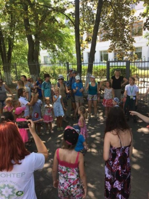 В севастопольском поселке Андреевка устроили праздник для особых детей
