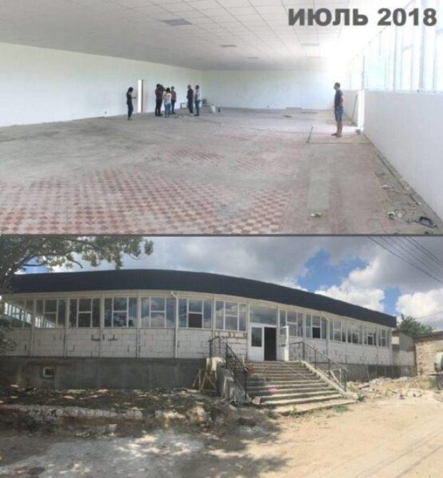 В Старом Крыму строят спортзал в помещении магазина