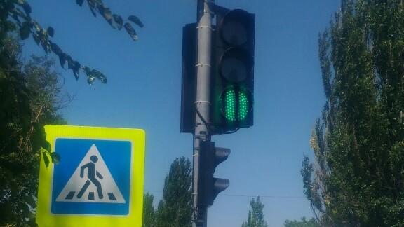 В Саках настраивают светофоры на режим «зеленой волны»