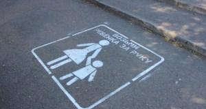 На пешеходных переходах Симферополя появились надписи