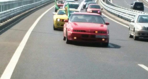 По Крымскому мосту поехали раритетные авто. Фестиваль «МОСТ» начинается