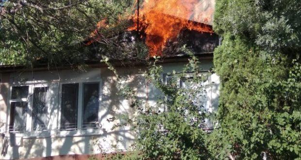 На пожаре в Ялте погибла пожилая женщина
