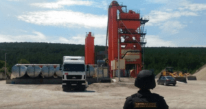 В Севастополе приостановлена работа асфальтобетонного завода