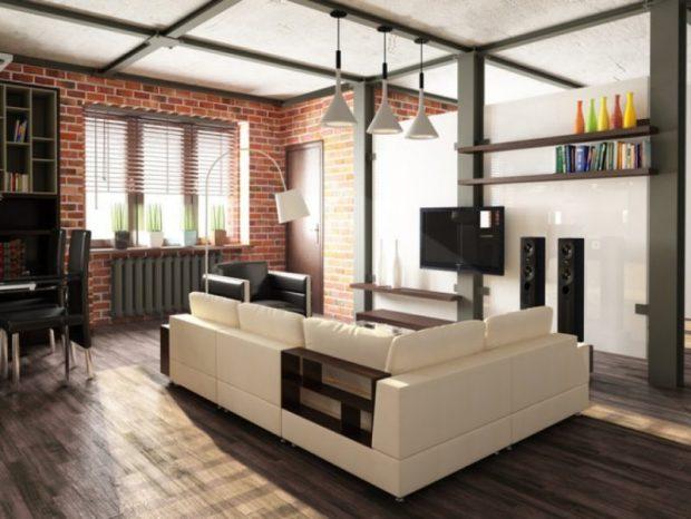 Квартира в стиле Лофт - небрежность, продуманная до мелочей