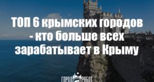 ТОП-6 крымских городов - кто больше всех зарабатывает в Крыму