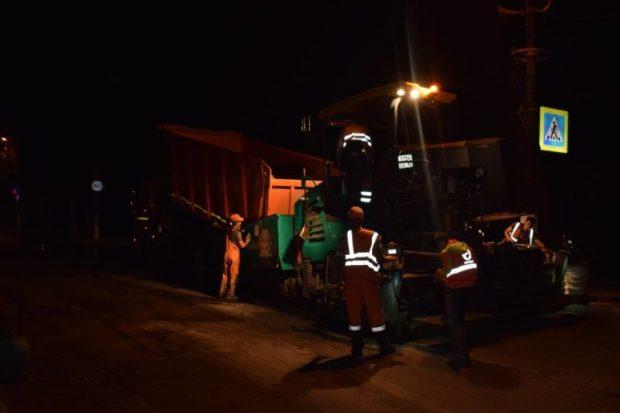 В Балаклаве по ночам ремонтируют улицу Новикова