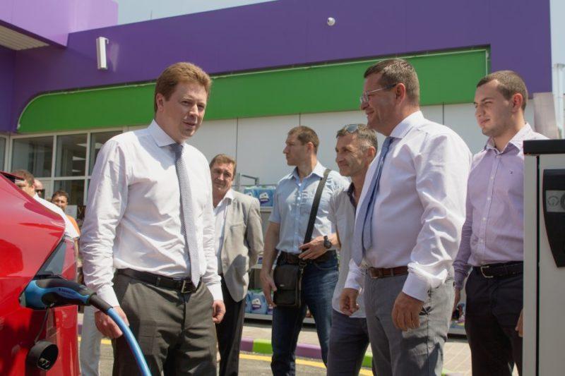 ВКрыму открылась первая заправка для электрокаров