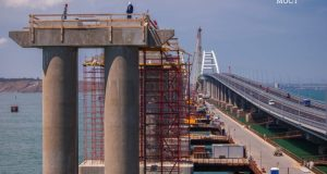 Крымский мост: есть 300 опор железнодорожной части транспортного перехода