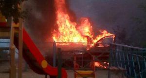 Автопожар в Севастополе. Средь бела дня загорелась «Daewoo»