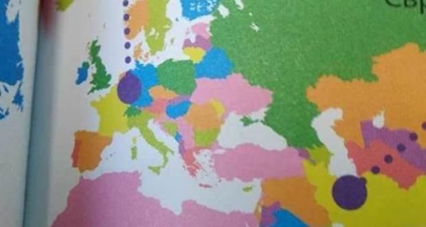 На Украине выпустили детскую энциклопедию с изображением Крыма в составе России