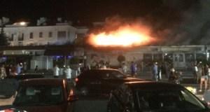 Ночью в центре Севастополя горели кафе