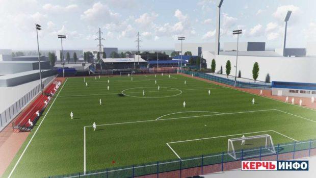 В Керчи началось строительство полноразмерного футбольного поля