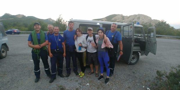 В горах Крыма спасено 7 человек