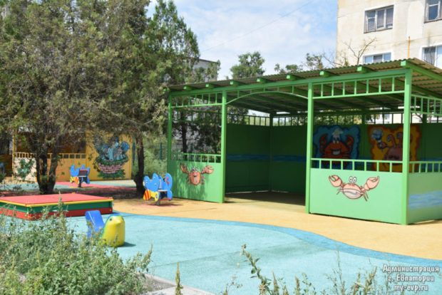 В евпаторийском поселке Новоозерное готовится к открытию детский сад «Якорёк»