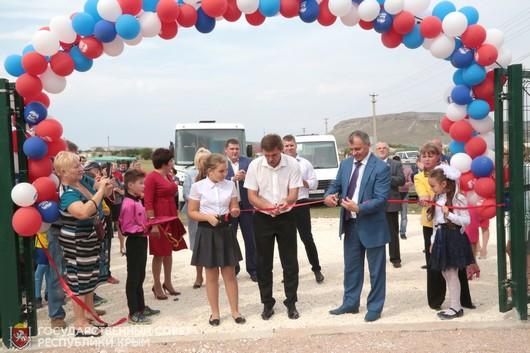 В крымском селе Мичуринское открыли поле для мини-футбола