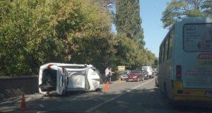 Недоброе утро в Симферополе: «перевертыш» и пробка на улице Беспалова