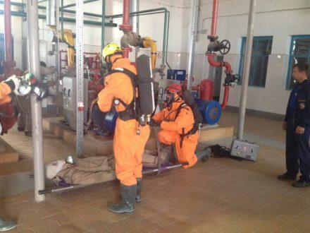 Газоспасатели «КРЫМ-СПАС» провели учения по ликвидации техногенной аварии