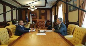 Сергей Аксёнов провёл рабочую встречу с министром топлива и энергетики РК Вадимом Беликом