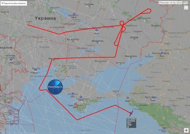 За Крымом следят. В субботу в небе над побережьем замечены самолёты США