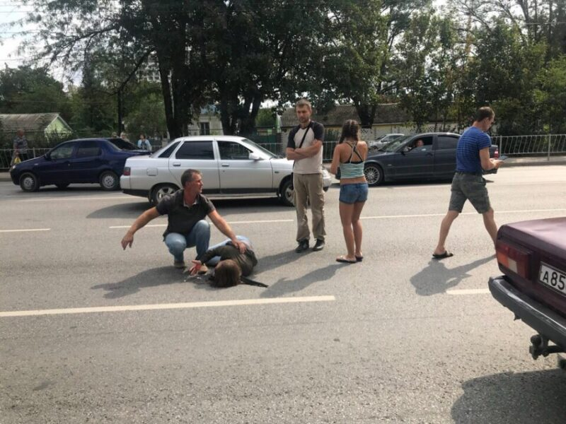 «Проклятый пешеходный переход» в Симферополе