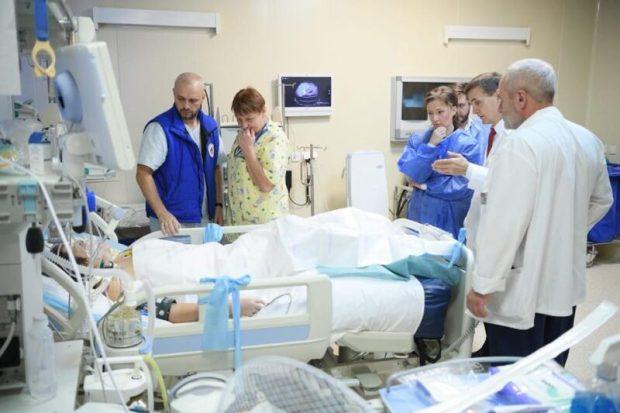 Как себя чувствуют дети из Керченского колледжа в НИИ Неотложной детской хирургии и травматологии