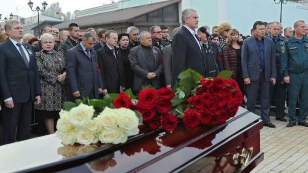 Крым простился с жертвами трагедии в Керченском политехническом колледже