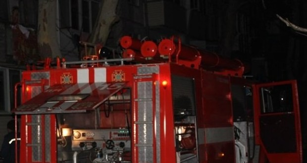 Ночной пожар в Керчи