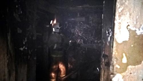 Ночной пожар в Старом Крыму - горел жилой дом