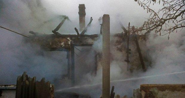 Пожар в Симферопольском районе. Пострадала женщина