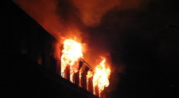 Ночные пожары в Красногвардейском и Симферопольском районах